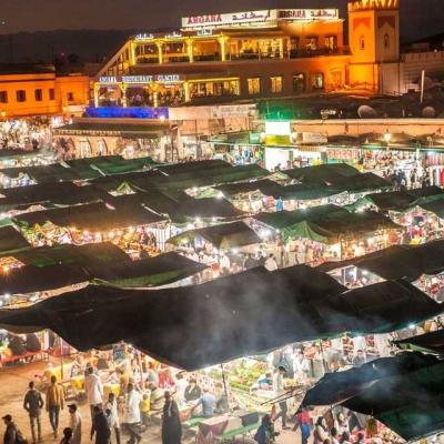 Photo Marrakech: visite gastronomique nocturne avec dîner